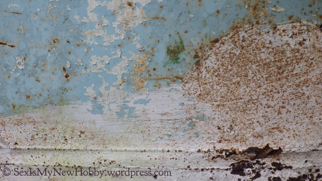 patina on a tank at a modest farmhouse